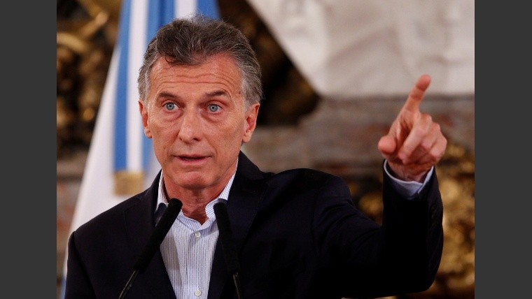 Argentina's President Mauricio Macri gestures during a news conference in Buenos Aires
